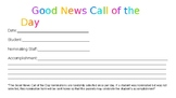 """Good News Call of the Day"" Nomination Form"