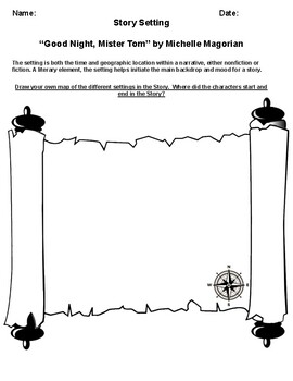 """Good Night, Mister Tom"" by Michelle Magorian Setting Worksheet"