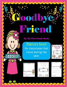 """Goodbye Friend"" Memory book"