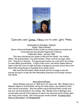 """Goodbye, Vietnam"" Independent Reading Unit"