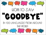 """""""Goodbye"""" in 100 Languages"""