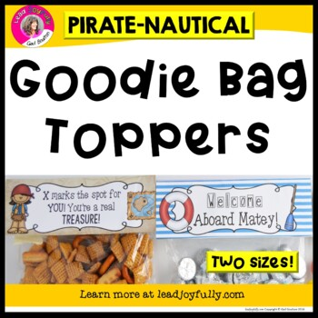 """Goodie Bag"" Toppers (Pirate/Nautical Theme)"