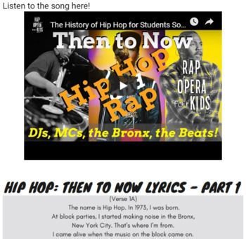 Google Forms Reading Context Clues Activity for Middle School Using Rap Song