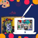 Google Slide Arte y Artistas espanoles e hispanos  Readin