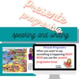 Google Slide Presente Progresivo Presentation and Activities