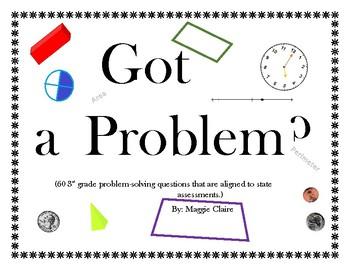 """Got a Problem?"" 3rd Grade 2017 STAAR Aligned Test Preparation"