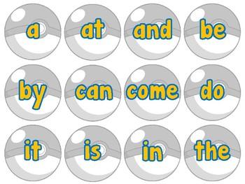 """""""Gotta catch em all""""-Sight Word & Alphabet Recognition"""