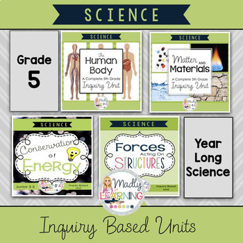 ONTARIO SCIENCE: Gr. 5 Complete Inquiry Based Units Bundle