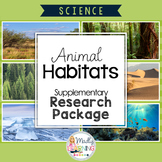ONTARIO SCIENCE: Gr.4 Animal Habitats Student Research Package