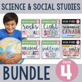 ONTARIO: Complete Gr.4 Science and Social Studies Inquiry Unit FULL YEAR BUNDLE