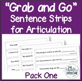"""Grab and Go"" Sentence Strips for Articulation (Pack One)"