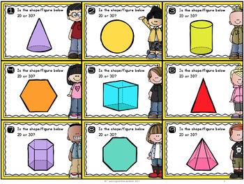 {Grade 1} 2D and 3D Geometry Mathtivity Cards