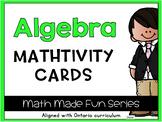 {Grade 1} Algebra Mathtivity Cards