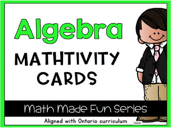 {Grade 1} Algebra Mathtivity Cards