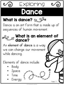 {Grade 1} Unit 1: Dance Activity Packet