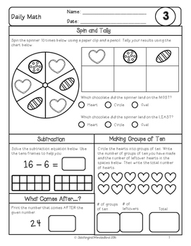 {Grade 1} February Daily Math Packet