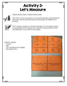 {Grade 1} Linear Measurement Interactive Notebook
