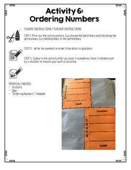 {Grade 1} Number Sense Interactive Notebook