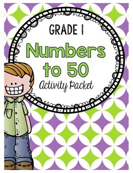 {Grade 1} Numbers to 50 Activity Packet