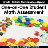 {Grade 1} One-on-One Math Strand Assessments (Ontario Aligned)