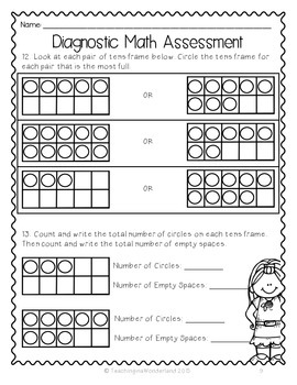 Clever image for free printable diagnostic math assessment