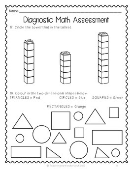 Adaptable image with free printable diagnostic math assessment