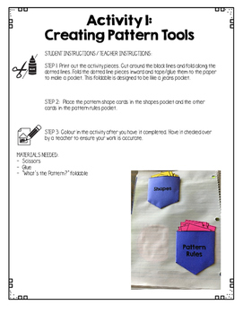 {Grade 1} Patterning Interactive Notebook
