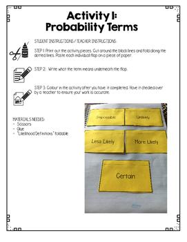 {Grade 1} Probability Interactive Notebook