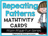 {Grade 1} Repeating Patterns Mathtivity Cards