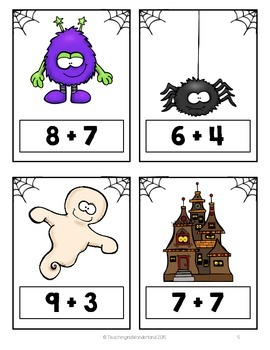 {Grade 1} Spooktacular Addition Solve the Room Activity Packet