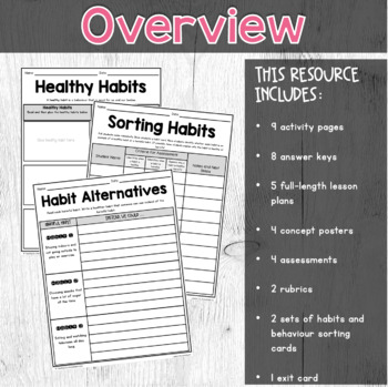 {Grade 1} Substance Use, Addictions and Related Behaviours Activity Packet