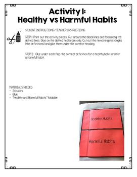 {Grade 1} Substance Use Interactive Notebook