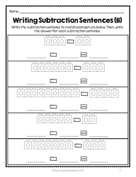 {Grade 1} Subtraction Activity Packet