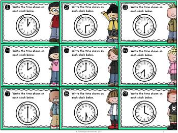 {Grade 1} Time Mathtivity Cards