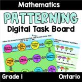 (Grade 1) Unit 1: Patterning Digital Task Board