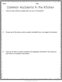 {Grade 10} Food-Preparation Skills Activity Packet