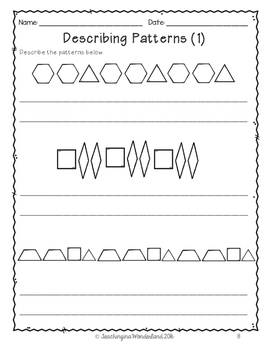 grade 2 alberta patterning activity packet by teachinginawonderland. Black Bedroom Furniture Sets. Home Design Ideas