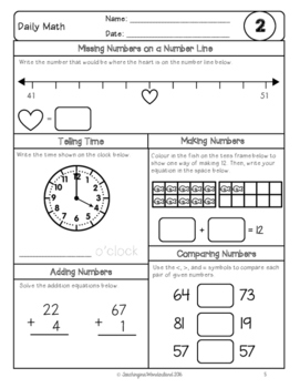 {Grade 2} February Daily Math Packet