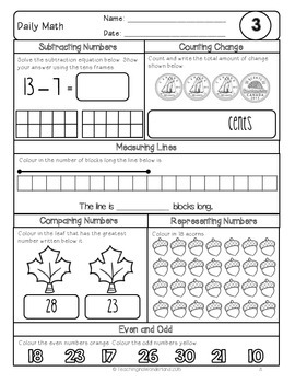 {Grade 2} November Daily Math Packet