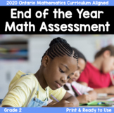 {Grade 2} Ontario End of Year Math Assessment