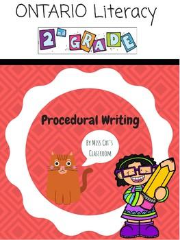 {Grade 2} Procedural Writing Ontario Literacy NO PREP Unit