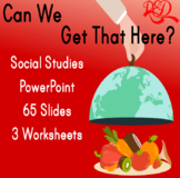 ⭐Food Interactive Social Studies Powerpoint ❘ Worksheets ❘ Leveled Reading