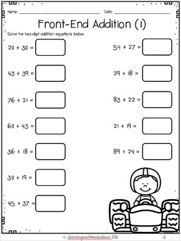 {Grade 3} Addition Activity Packet