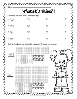 {Grade 3 CCSS} Place Value Activity Packet