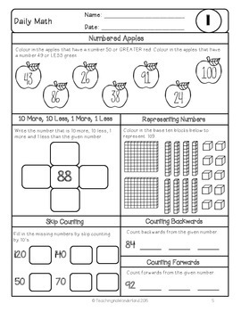 {Grade 3} October Daily Math Packet