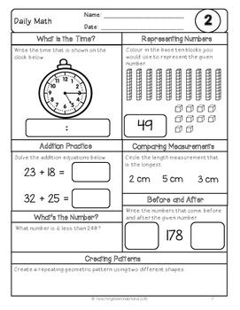 {Grade 3} December Daily Math Packet