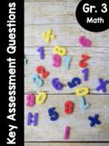 {Grade 3} Key Assessment Math Questions