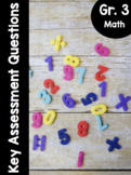 {Grade 3} Key Assessment Math Questions