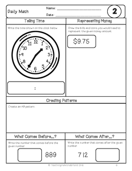 {Grade 3} March Daily Math Packet