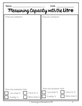 {Grade 3} Mass and Capacity Activity Packet